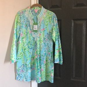 Lilly Pulitzer Beaded Tunic Size Small